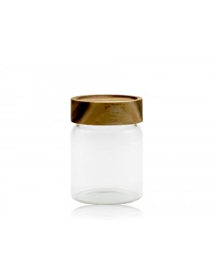 北歐木質蓋儲物罐320ML